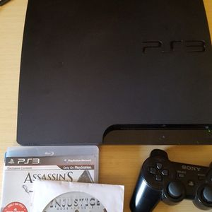 PlayStation 3 PS3 Slim 320gb w/ games + controller for Sale in Vancouver, WA