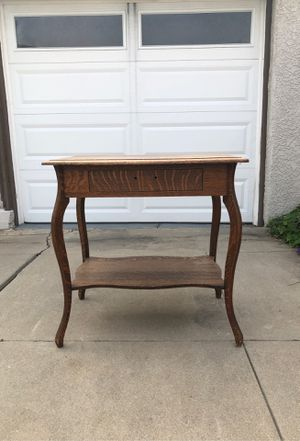 Large antique side table with drawer for Sale in San Diego, CA