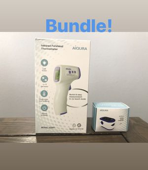 Bundle FDA Approved Infrared Thermometer and Pulse Oximeter for Sale in Las Vegas, NV