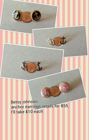 Betsy johnson earrings for Sale in Tacoma, WA