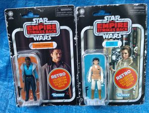 Star Wars Retro Collection Action Figure Lot MOC Lando Calrissian & Hoth Leia Kenner ESB for Sale in Pasadena, CA
