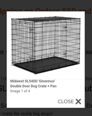Midwest SL54DD 'Ginormus' Double Door Dog Crate + Pan for Sale in St. Louis, MO