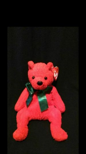 Mint Condition Ty Beanie Babies 2000 Mistletoe The Red Christmas Holiday Bear With Green Ribbon for Sale in Portland, OR