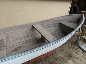 12' fiberglass fishing boat w/ trailer for Sale in Bellevue, WA