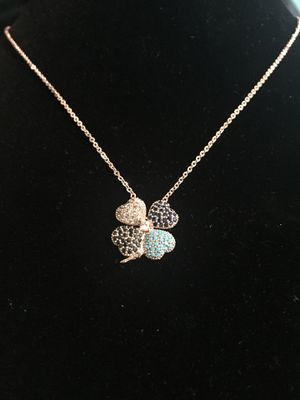Lucky Four Clover Necklace with Zirkon Pendant for Sale in New York, NY