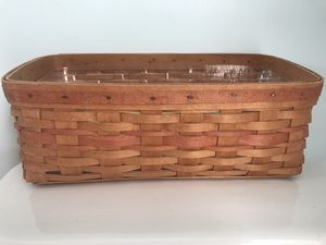 Longaberger vanity basket with protector for Sale in Galion, OH