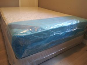 Pillow top mattress and box spring Queen set $225 full set $210 brand new free delivery same day for Sale in Miramar, FL