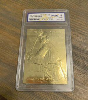1996 Star Wars Darth Vader Edition Luke Skywalker Limited Edition Card 23kt GoldWCG 10 graded for Sale in Ocoee, FL