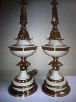 Set of vintage stiffel?hollywood regency brass table lamps for Sale in Glendale, AZ