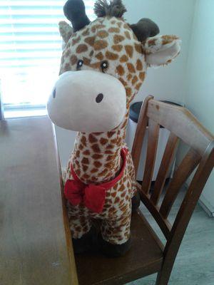 Girraff Stuffed Animal. Red Collar Bow & 3 Hearts for Sale in San Diego, CA