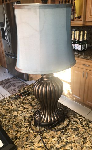 Brushed Copper Satin Shade Lamp for Sale in Miramar, FL