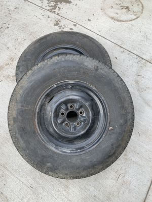 Pair of ST 225 75 15 new trailer tires with wheels for Sale in Aurora, CO