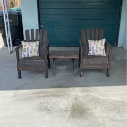 Wood Chairs And Table! Normal wear and tear they need some painting. Moving and have no use for them at new home. Serious buyers please. for Sale in Baldwin Park,  CA
