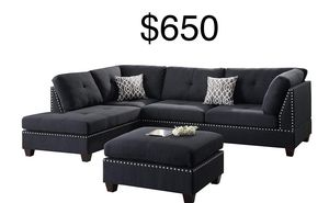 New black sectional couch for Sale in Santa Monica, CA