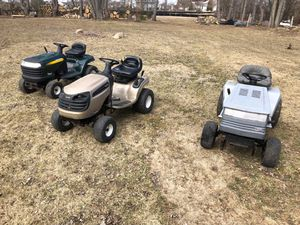 Craftsman riding mowers lawn tractors attachments for Sale in Northbrook, IL