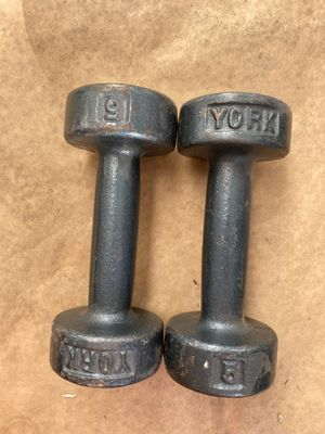Dumbbell lifting weights 5 pound York for Sale in Las Vegas, NV