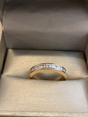 18K Gold plated Ring - PriNce cut diamond for Sale in Miami, FL