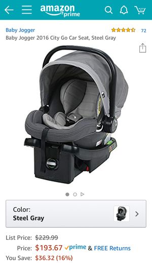 Baby Jogger City Go Car Seat carseat Steel Gray baby car seat carrier rear facing Graco City mini City Select for Sale in Sandy Springs, GA
