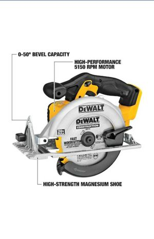DEWALT 20-volt Max 6-1/2-in Cordless Circular Saw with Brake and Magnesium Shoe; DCS391B for Sale in Fairfax, VA