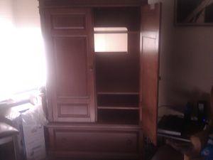 Hardwood TV cabinet for Sale in Greensboro, NC