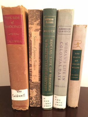 Vintage Variety of 5 Historical & Fictional Books for Sale in Baltimore, MD