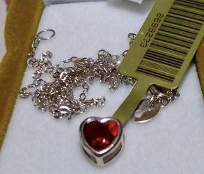 14k Solid White Gold Genuine Garnet Necklace for Sale in Anaheim,  CA