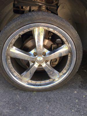 20 inch chrome velocity 5 spoke for Sale in Fresno, CA