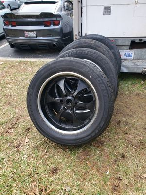 4 20 in 6x114.3 wheels rims and tires for Sale in Germantown, MD