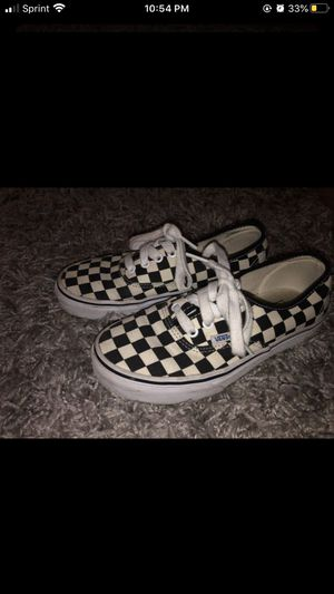 Authentic Checkered Vans 4.5Y/6 Women's for Sale in San Fernando, CA