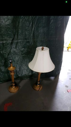 5 Gold/bronze colored lamps for Sale in Mooresville, NC