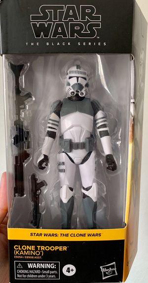 Star Wars Black Series Kamino Clone Trooper Figure for Sale in Fresno, CA
