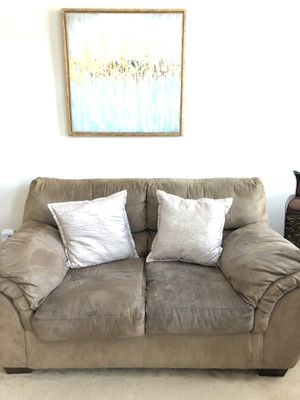 Suede Couch and love seat Set for Sale in South Riding, VA