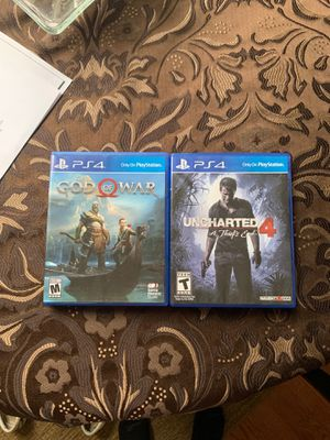 god of war & uncharted 4 (playstation 4) for Sale in Prince George, VA