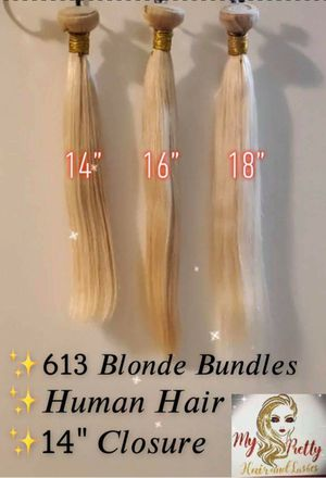 613 blond human hair bundles with a clouser for Sale in Vallejo, CA