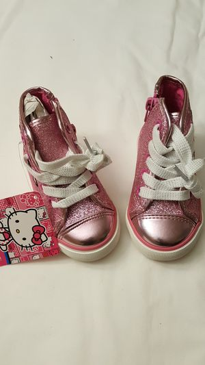 Hello Kitty Little Girl High Top Sneaker, Pink Sparkle, 5M Brand New for Sale in Laurel, MD