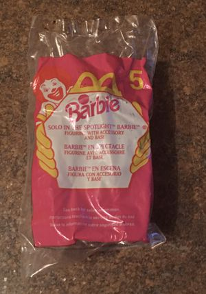 Vintage McDonald's Happy Meal 1999 #5 Barbie Solo In The Spotlight Barbie Figurine - Brand New/Sealed for Sale in Ingleside, IL