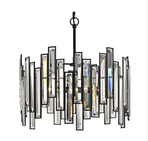 Fifth and Main Lighting Madison 18 in. 3-Light Aged Bronze Chandelier with Crystal Prisms for Sale in Katy, TX