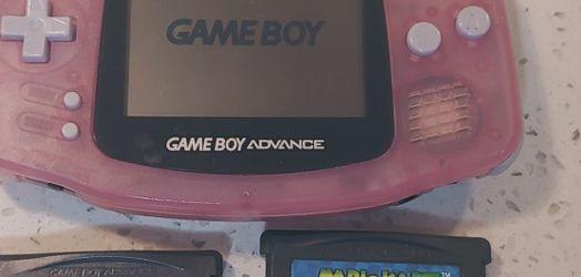 Nintendo Game Boy Advance (AGB-001, Fuchsia Pink) + 2 Games for Sale in Newcastle,  WA
