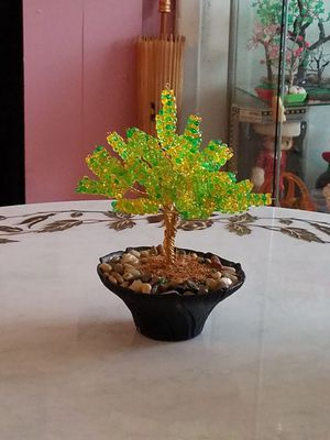 Beaded copper wire tree for Sale in Queens, NY