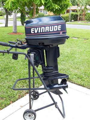25 hp EVINRUDE for Sale in Pompano Beach, FL
