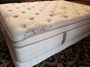 Full size Pillowtop Bed Stearns Foster with frame for Sale in Lynnwood, WA