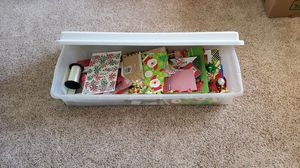 Storage container with xmas gift bags and boxes for Sale in Chandler, AZ