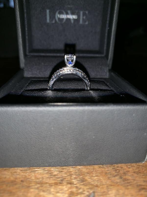 Vera Wang engagement ring and wedding band