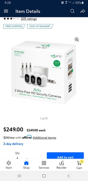 Arlo security cameras for Sale in Seagoville, TX