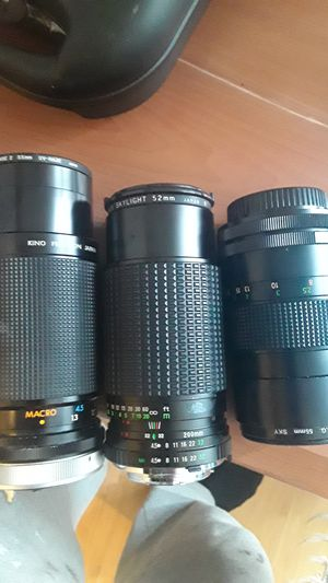 Different camera lenses. for Sale in Germantown, MD