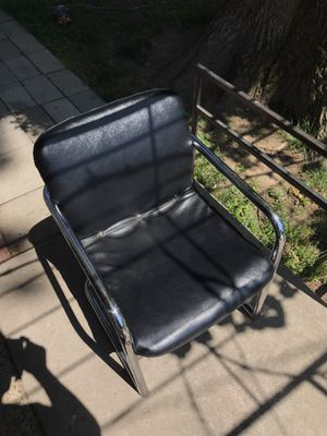 2 Black Leather Chairs for Sale in Croydon, PA