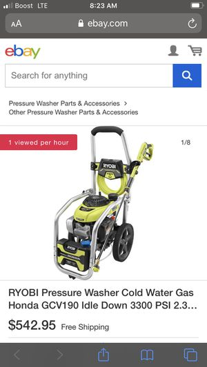 3000 psi RYOBI GAS PRESSURE WASHER $280 (Fresh NEVER USED for Sale in Princeton, NJ