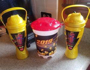 To all you can drink 2019 Great America cups plus refillable popcorn bucket good until the end of the year $20 for all for Sale in Morton Grove, IL