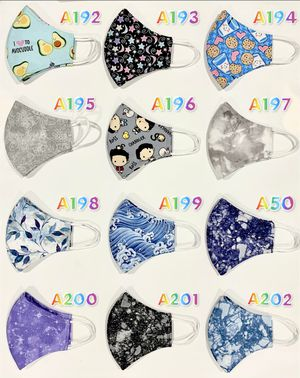 Washable Face Masks (Kids and Adults) for Sale in Kent, WA