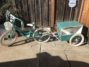 Trek girls bike & trailer for dolls for Sale in Fremont, CA